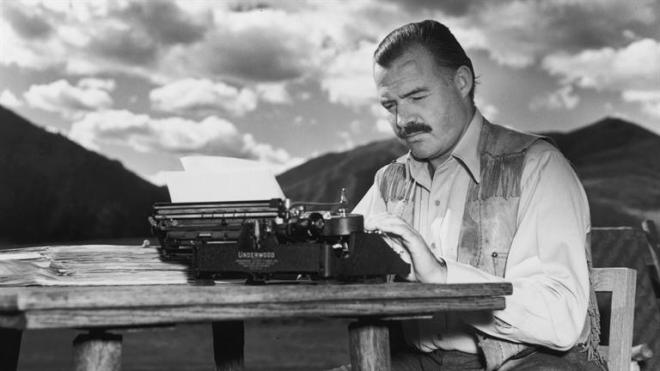Say what you want about Hemingway... but that shirt holds its own.