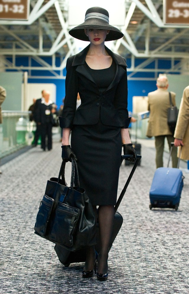 Selina Kyle, attempting a disguise.