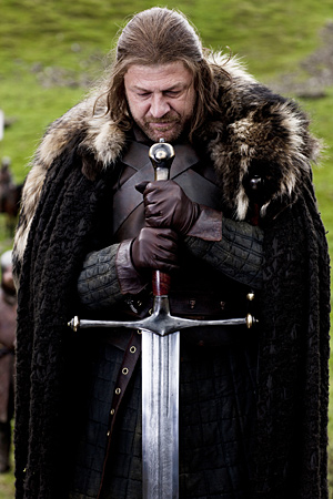 Ned and his sword, Ice.