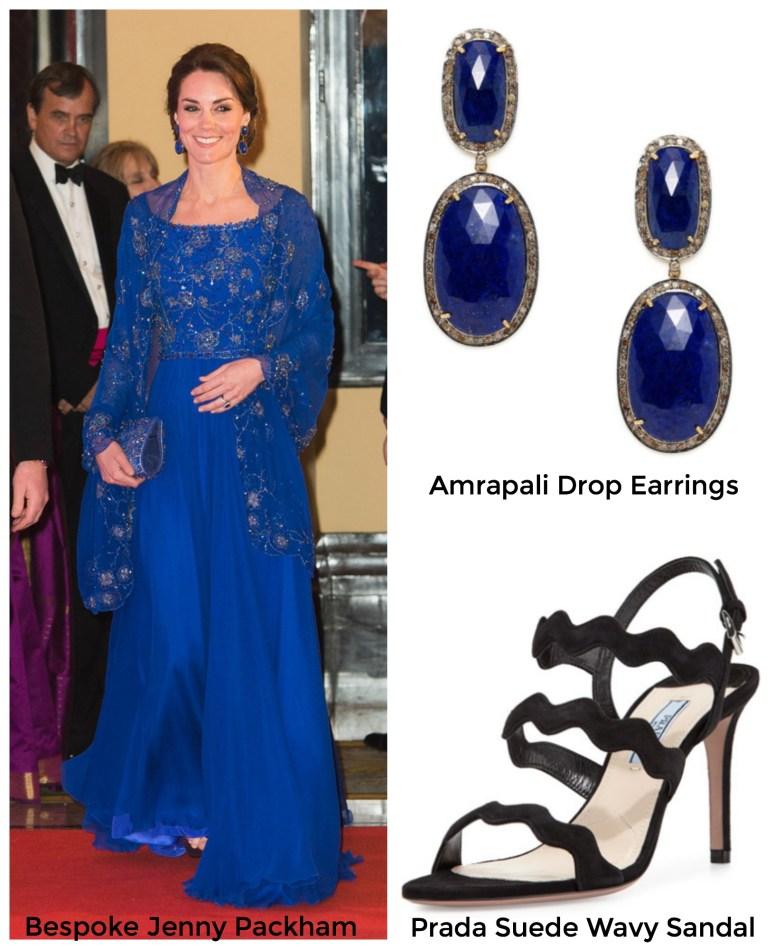 Duchess of Cambridge Kate Middleton Jenny Packham India Tour 2016