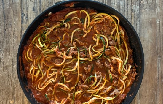 Zoodles + Bolognese