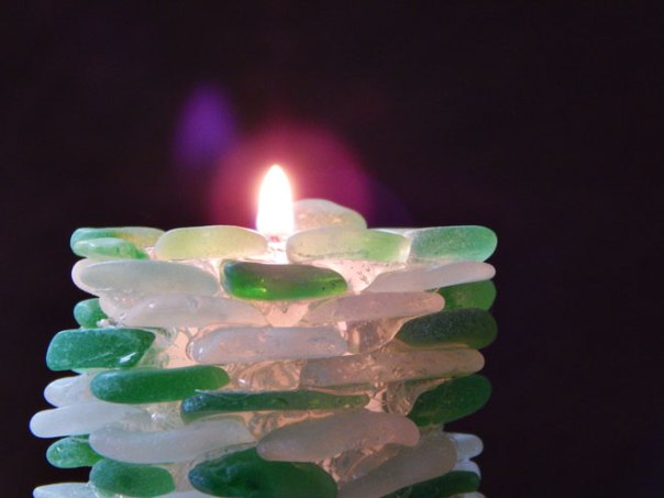 sea glass votive