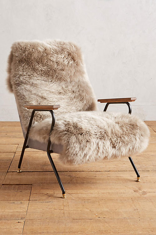 Furry cozy chair