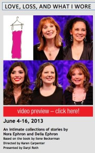 """Scottsdale June 2013 - the current cast of """"Love, Loss and What I Wore"""""""