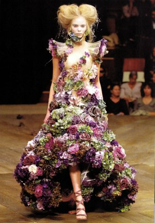 avant garde McQueen flower dress