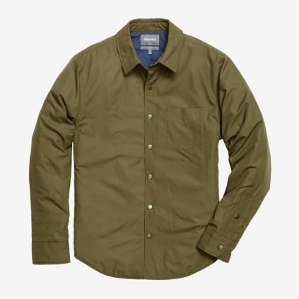 The Shirt Jacket - Olive Nylon