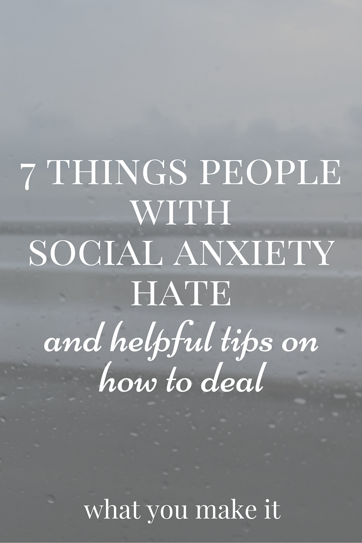 social anxiety how to meet people