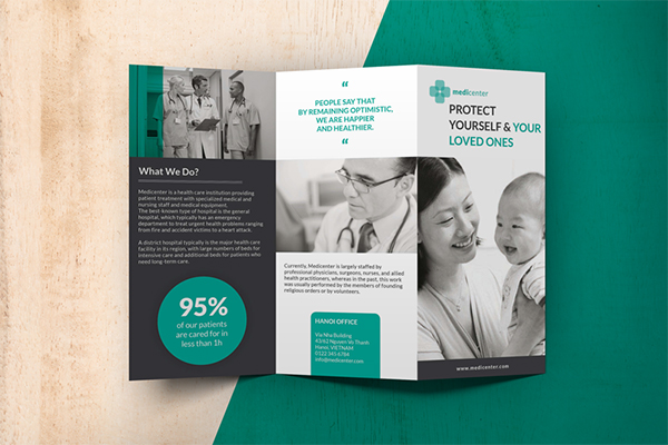 Design flyers Medical clinic pic jpg 600x400