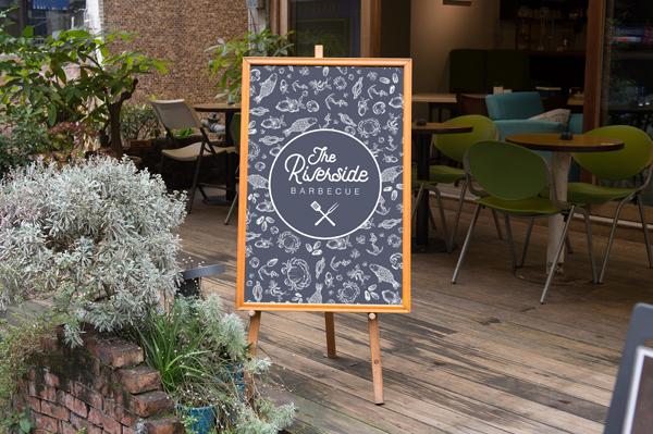 Design Riverside restaurant slate presentation jpg 600x400