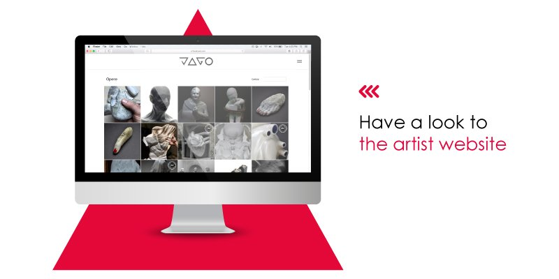 iMac with Pinterest Page of artist Jago, sculpting sculptor