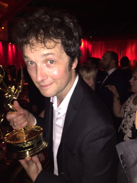 Producer and director Chris Addison at the HBO after-party.