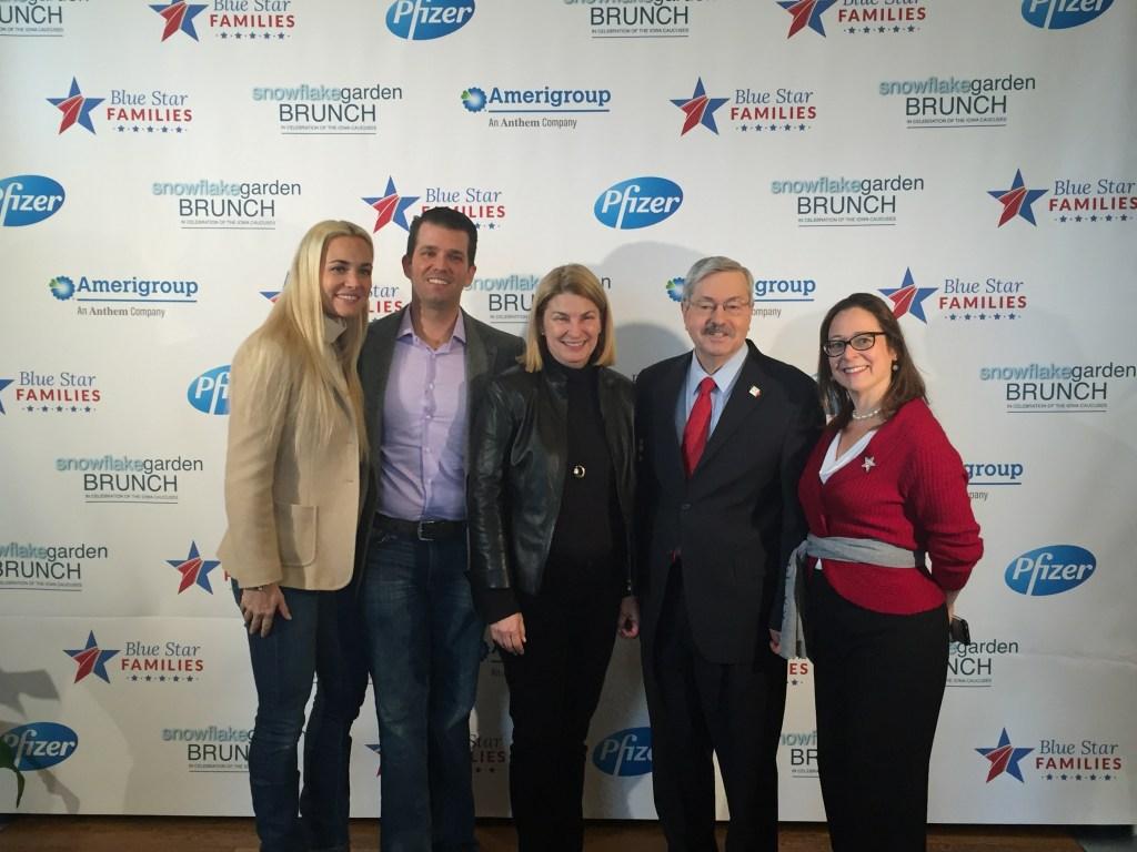 Vanessa Trump, Donald Trump Jr, Sally Susman, Governor Terry Branstad, Kathy Roth-Douquet