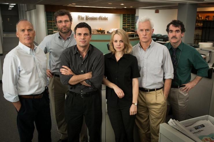 "The Cast of ""Spotlight"" Credit: Open Road Films"