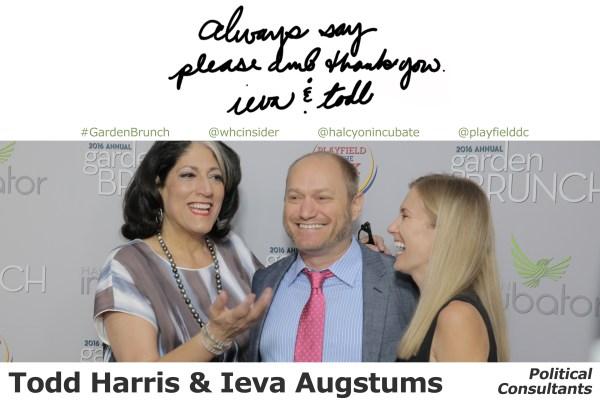 Todd Harris and Ieva Augstums