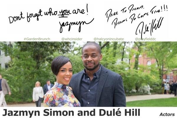Jazmyn Simon and Dule Hill
