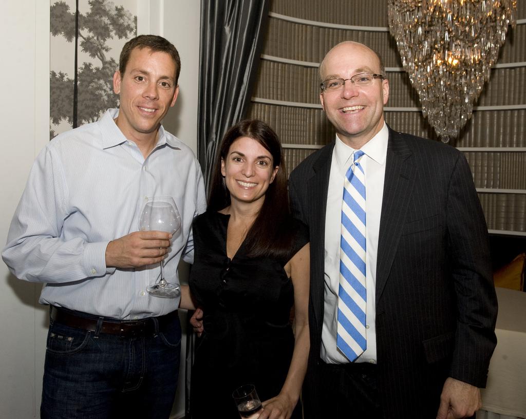 Jim VandeHei, Jenny Licht and Mike Allen. Photo courtesy of Haddad Media.