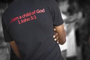 Photo recognizing black man as child of God