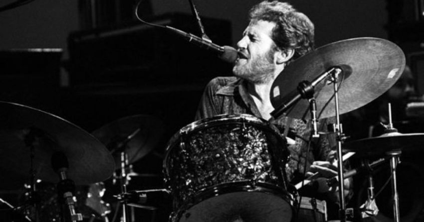 Levon Helm, drumming and singing
