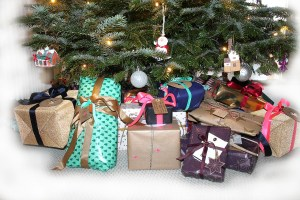 Photo: basketball inspired holiday gifts under a tree