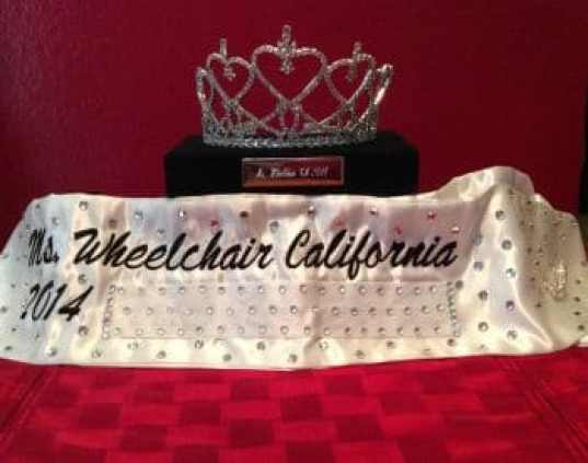 Tiffany's crown (Photo courtesy of Ms. Wheelchair California Inc.)