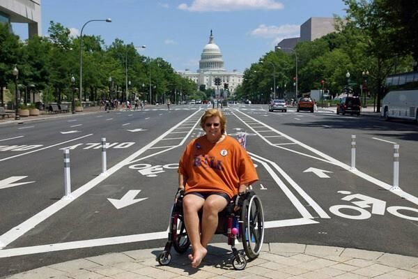 Kim is an advocate for wheelchair users nationwide, often participating in Roll on Capitol Hill events.