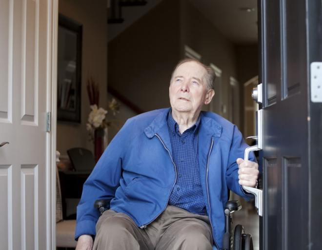 No need to worry about your loved ones in a wheelchair trying to open their front door, thanks to the EZ-ACCESS Concierge.
