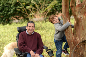 Wheelchair Dad and Son in Tree