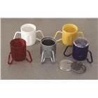 2 handle mugs wth lids