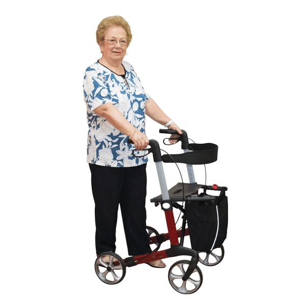 Aspire Vogue Lightweight Seat Walker woman standing
