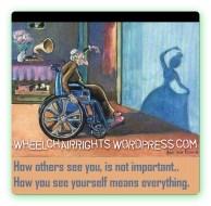 wheelchair reflection