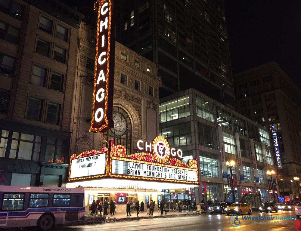 The Chicago Theatre on State Street.