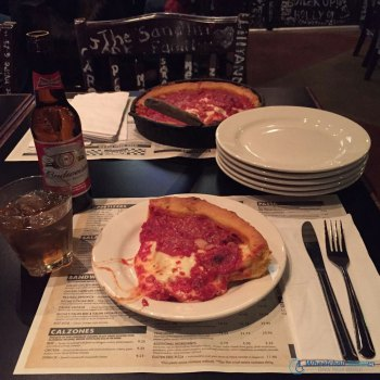 Chicago's Deep Dish-style pizza at Geno's East.
