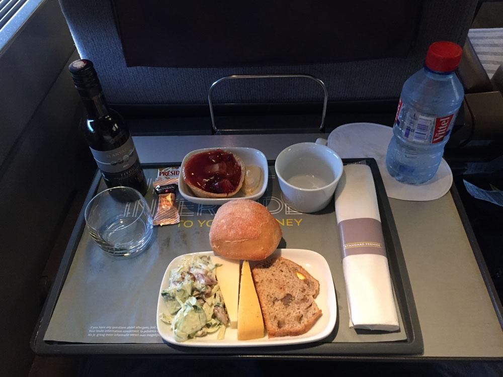 Eurostar Standard Premier Onboard Meal, Photo by John Morris