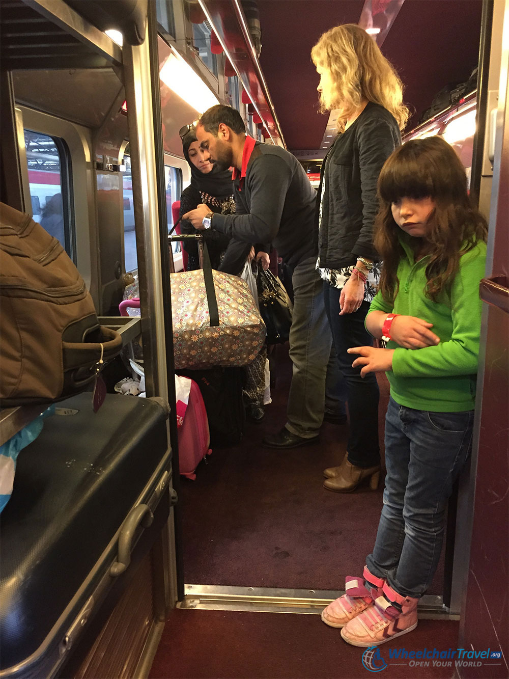 Crowded Thalys Train Wheelchair Access Difficult