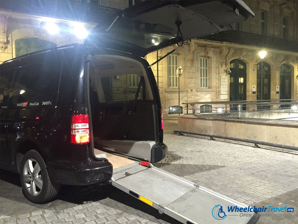 Wheelchair Taxi at Paris du Nord Train Station