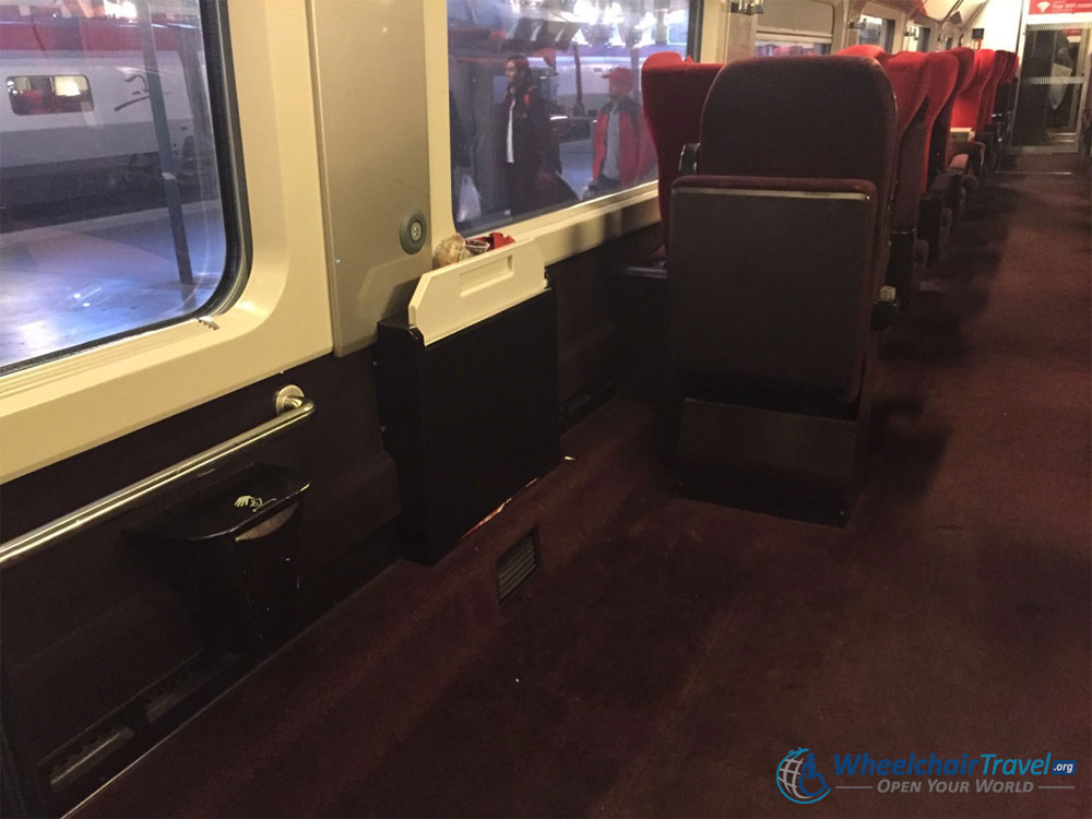 Thalys Train Wheelchair Accessible Seat Space