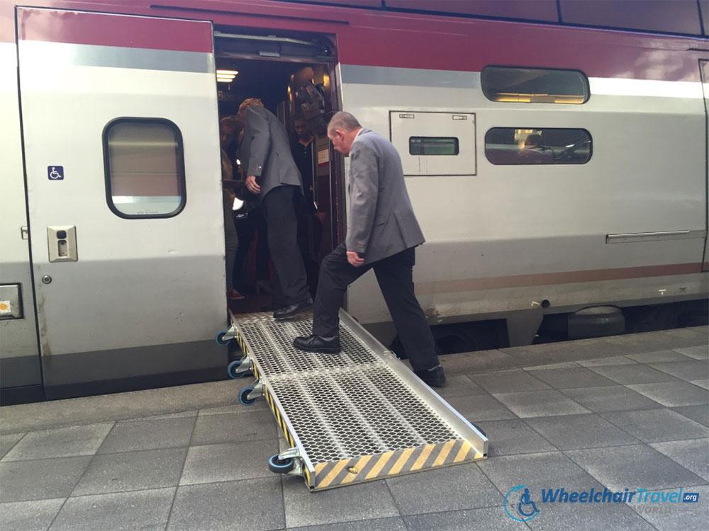 Thalys Train Wheelchair Access Ramp