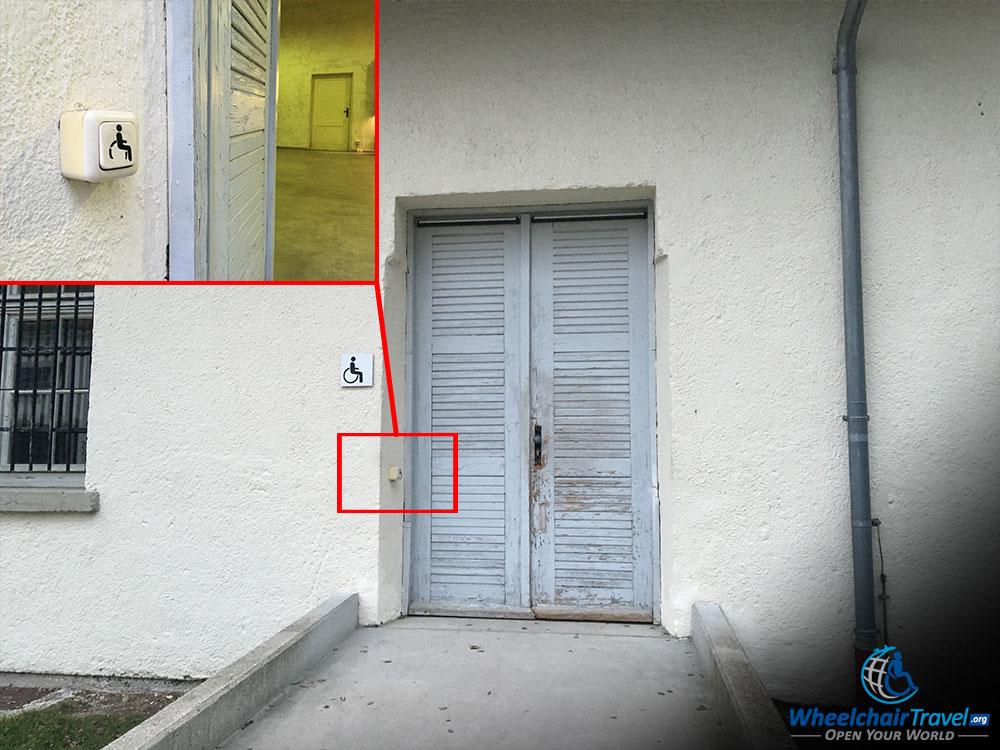 Dachau Camp Wheelchair Access Ramp Door