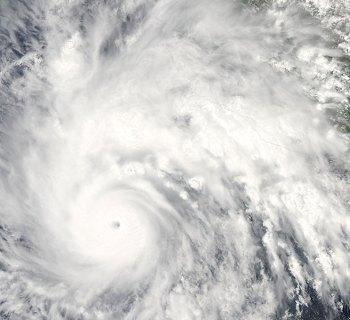 PHOTO DESCRIPTION: Satellite view of category 4 Hurricane Jimena.