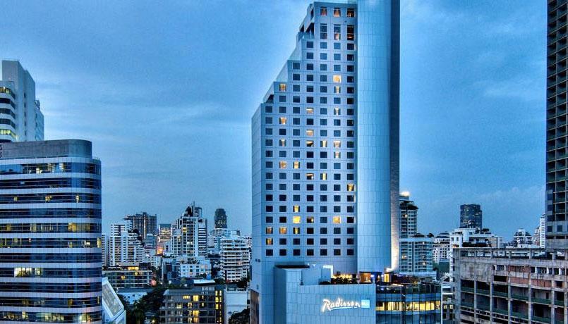 PHOTO DESCRIPTION: Exterior of the wheelchair accessible Radisson Blu Plaza Bangkok Hotel.