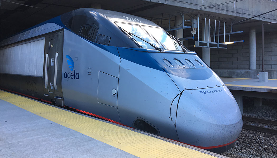 PHOTO: Amtrak Acela Train at Providence Station.