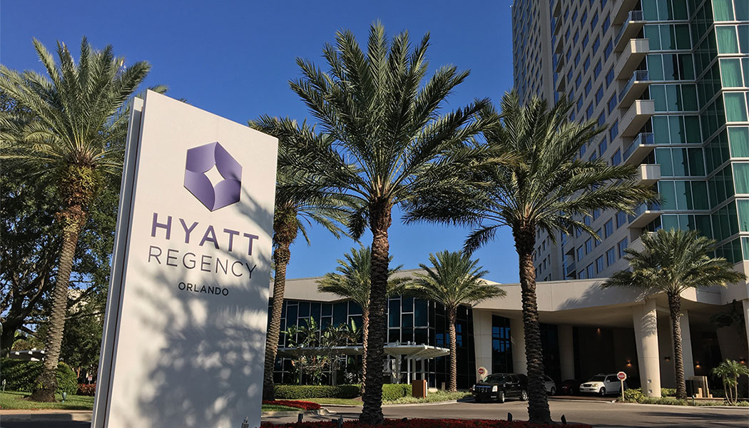 Exterior of Hyatt Regency Orlando hotel