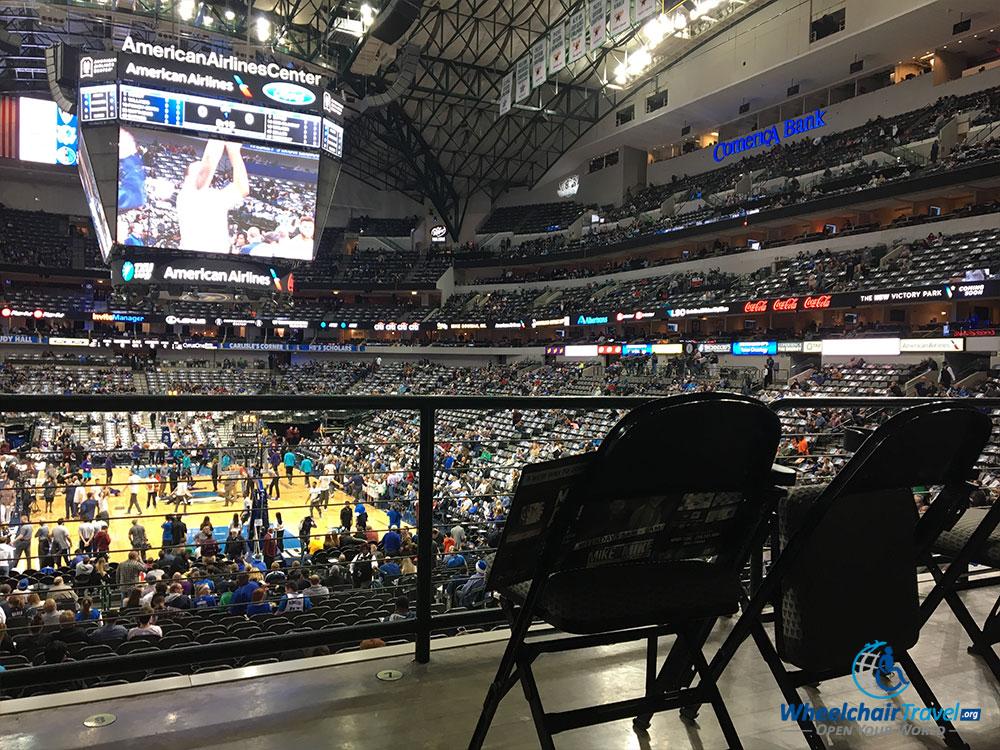 Dallas Mavericks ADA wheelchair seat