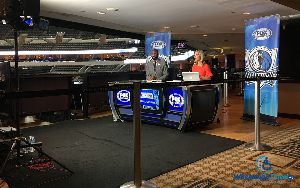 FOX sports broadcast from Dallas Mavericks game