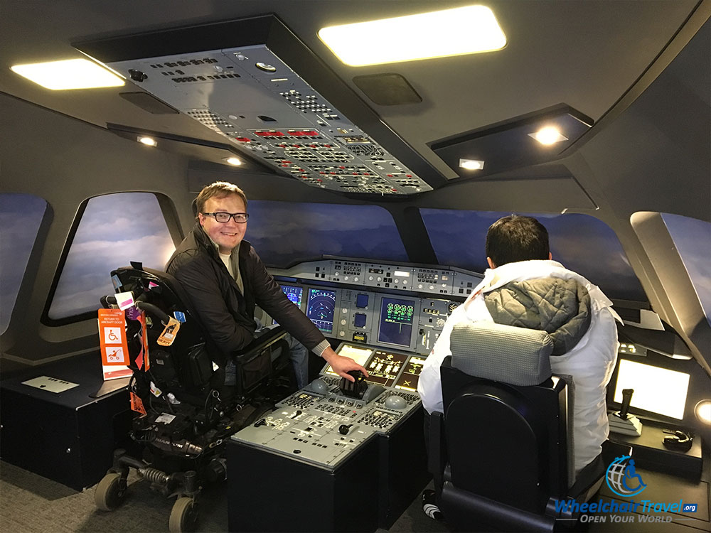Photo op in the A380 airplane cockpit display