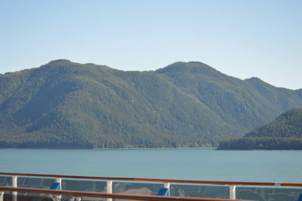 View from ship into Tracy Arm Fjord
