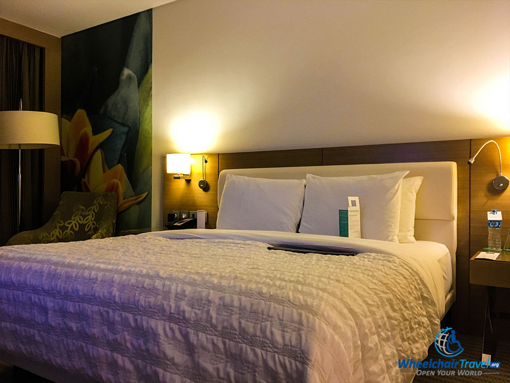 King size bed at Le Méridien Cairo Airport Hotel
