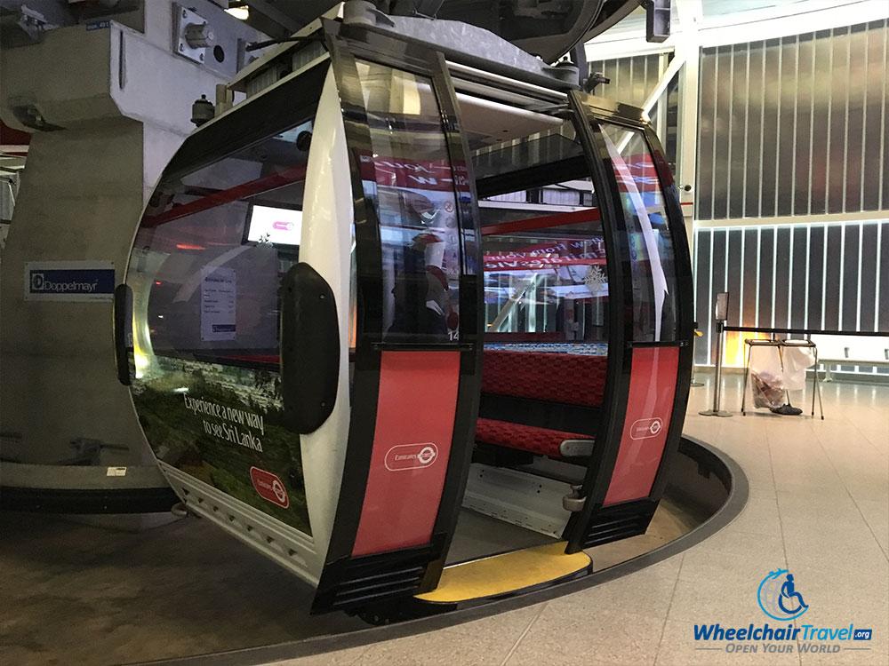 Emirates Airline London cable car gondola