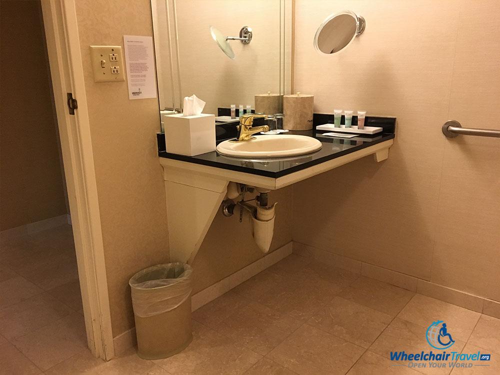 ADA bathroom sink, Monte Carlo Las Vegas