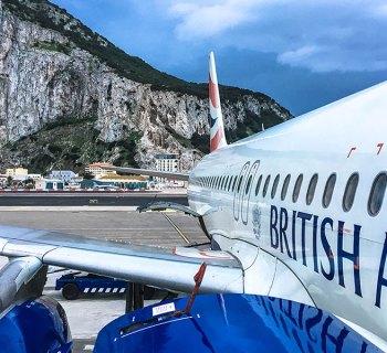 British Airways A320 aircraft at Gibraltar International Airport